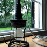 Oude industriële looplamp # 10 VERKOCHT