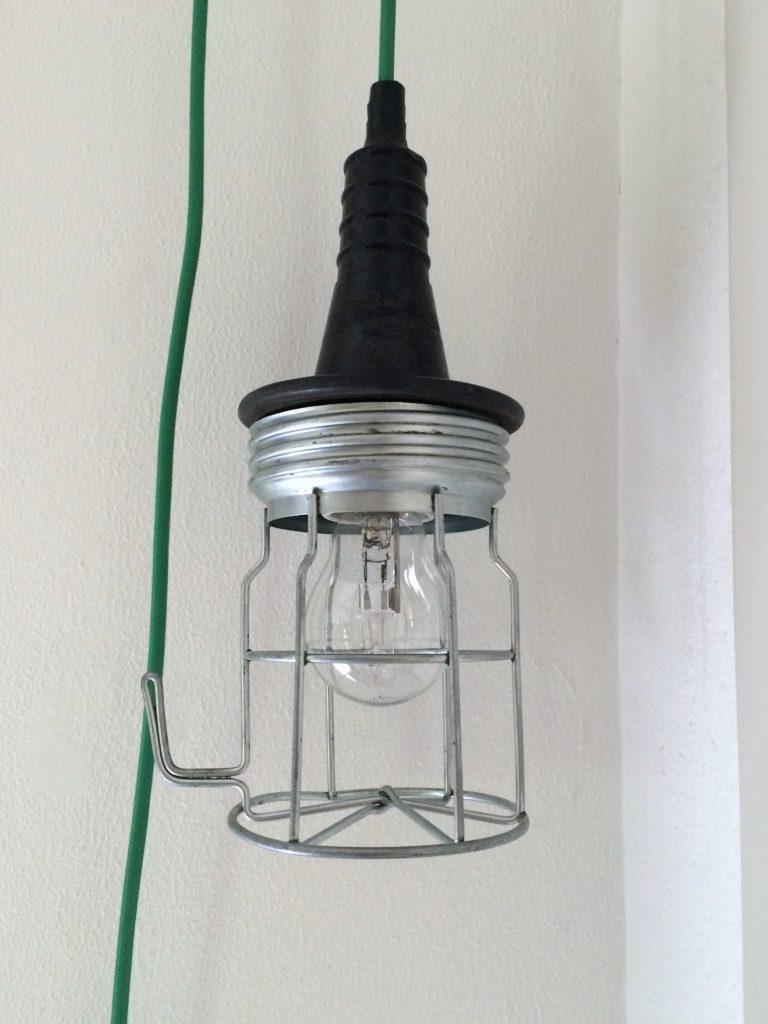 Oude industriële looplamp   VERKOCHT