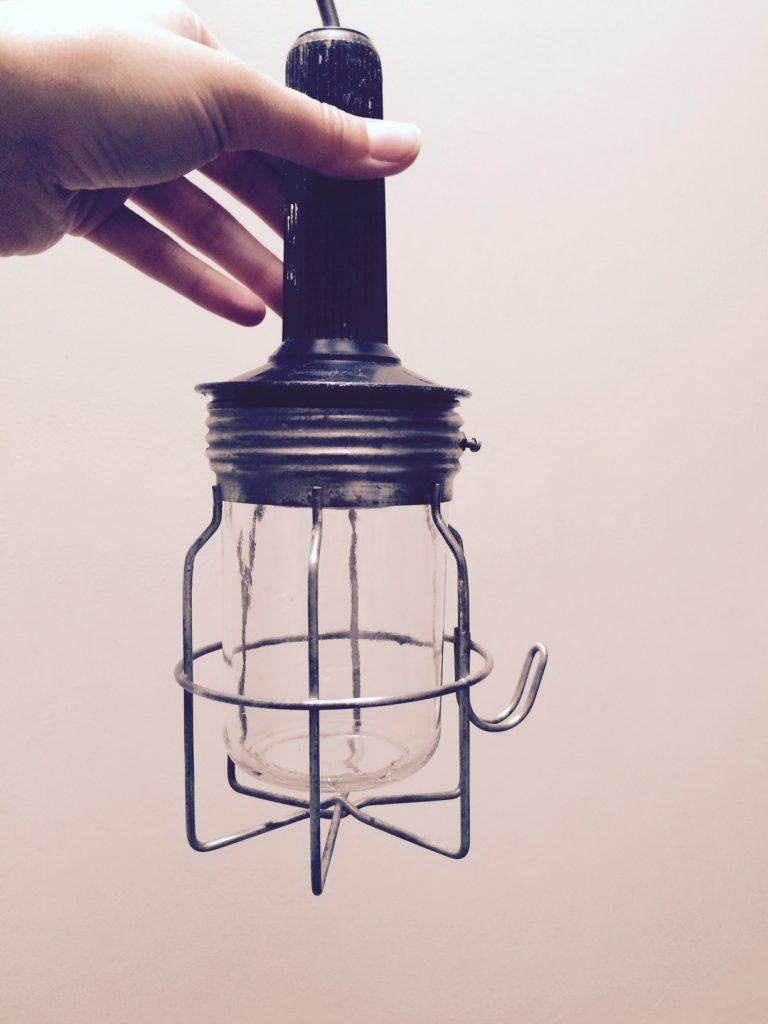Zwarte looplamp   VERKOCHT
