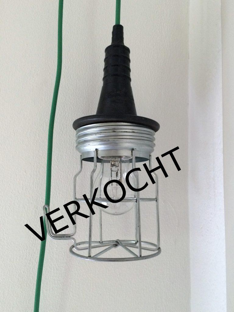 Oude industriële looplamp # 9 VERKOCHT
