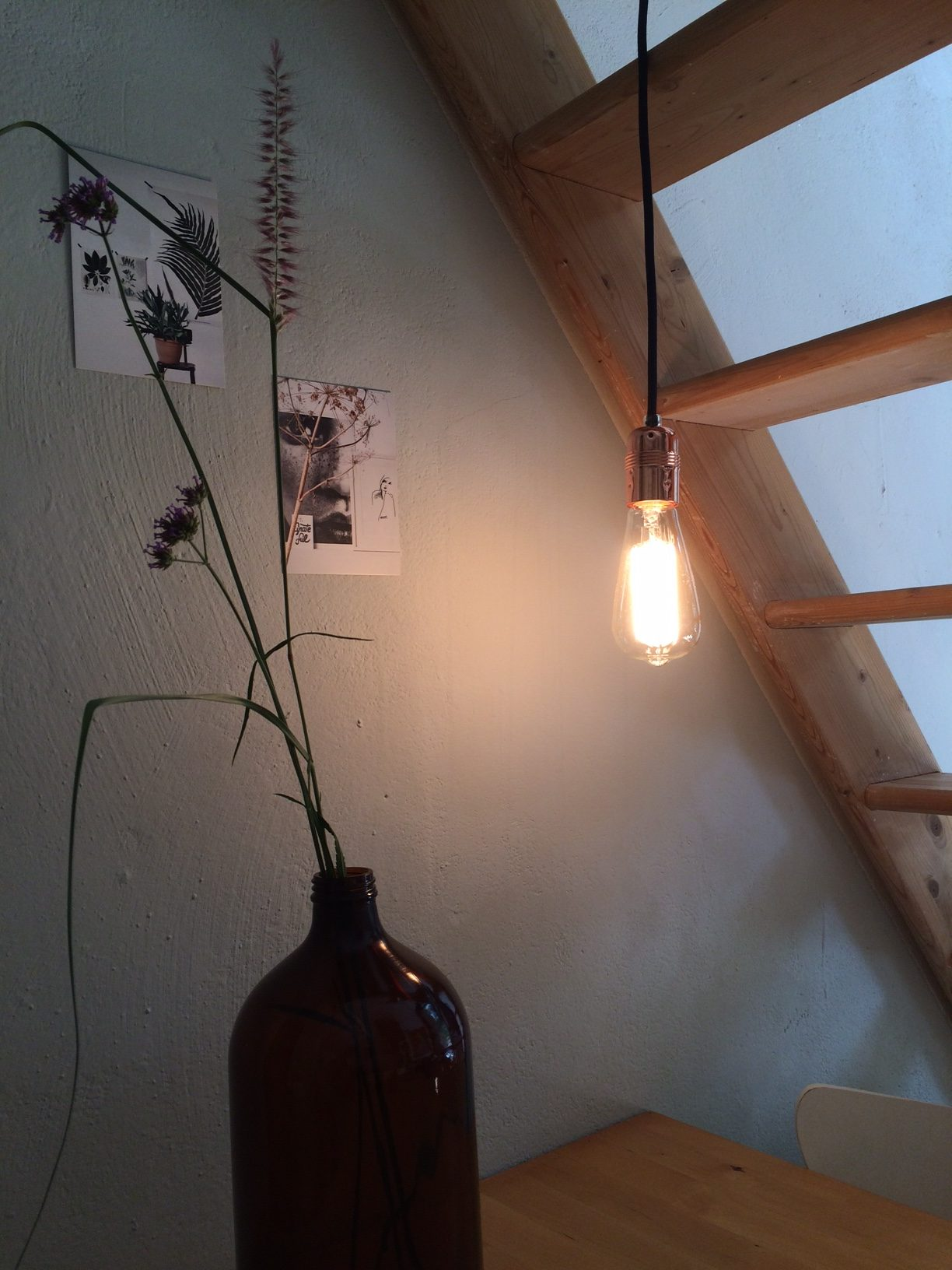 Lamp met koperen fitting # 17 | SALE