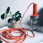 Industriële looplamp oranje # 40